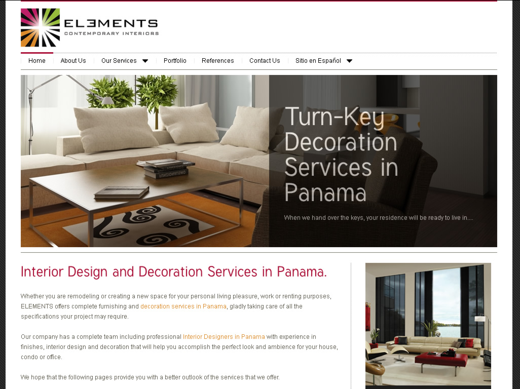 Diseño de Interiores en Panamá - Elements