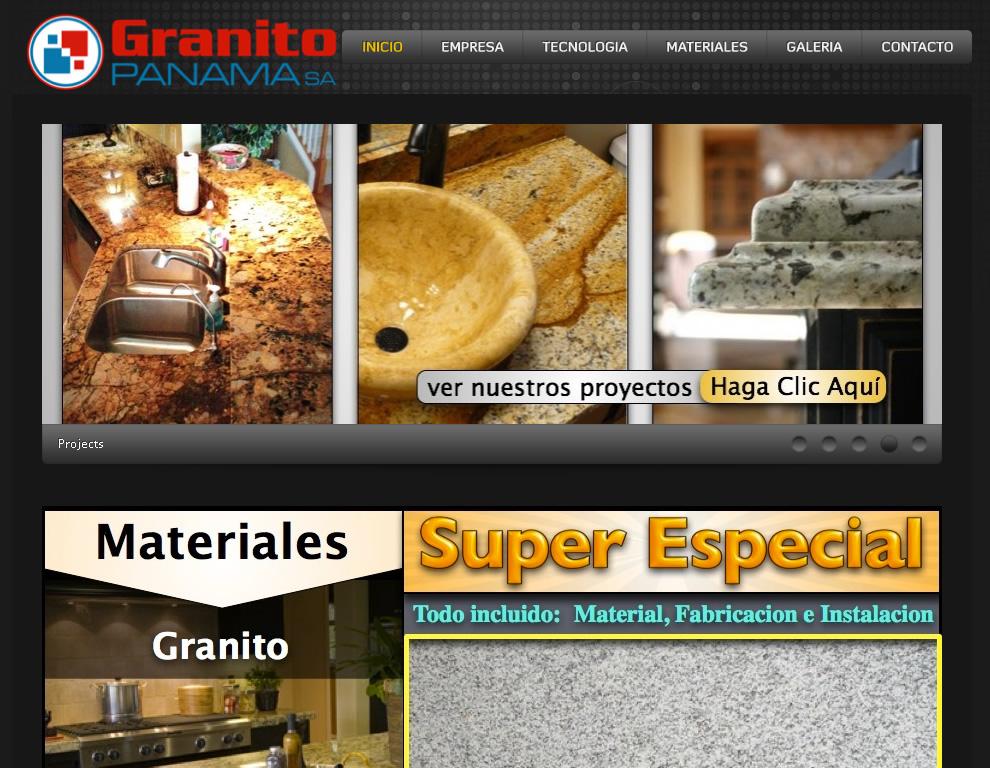 Granito Panamá - Sobres de Granito, Mármol y Silestone