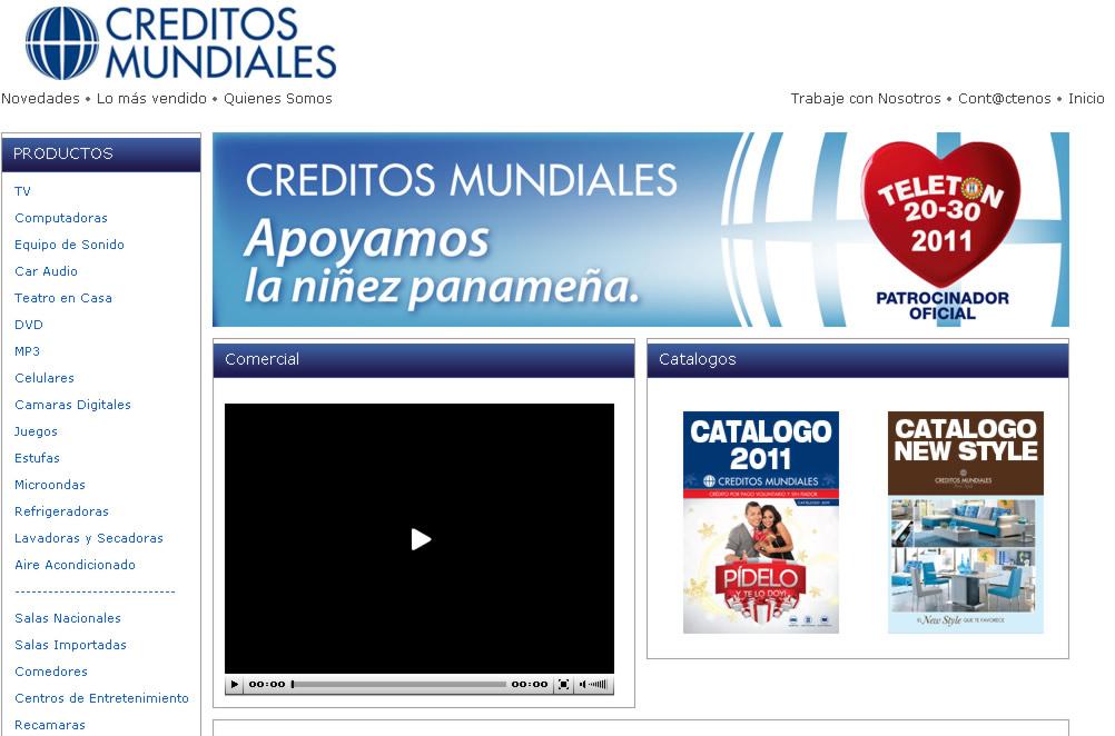 Créditos Mundiales - Muebles en Panamá