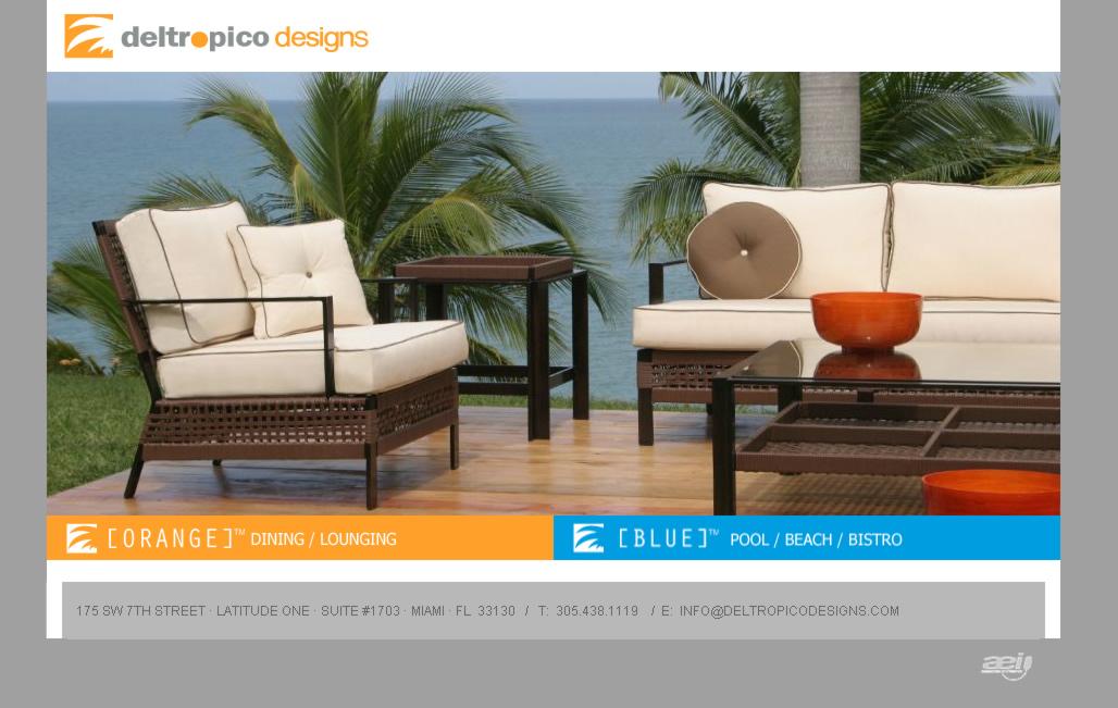 Del tropico designs muebles para exteriores interiores - Muebles para exteriores ...