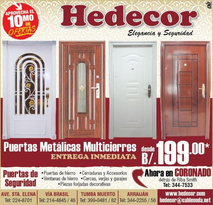 puertas de seguridad en panama - hedecor