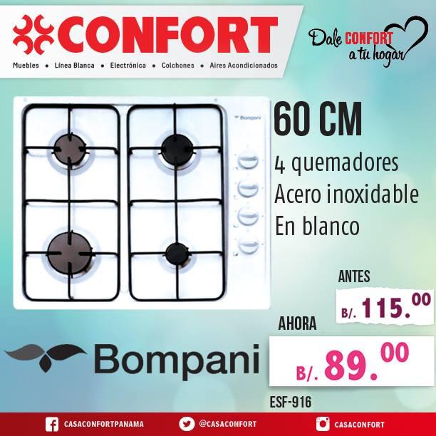 ofertas estufa bompani panama - casa confort