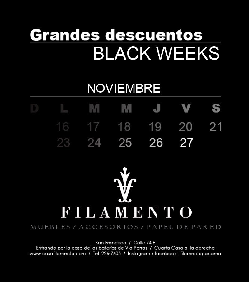 Black week en Filamento