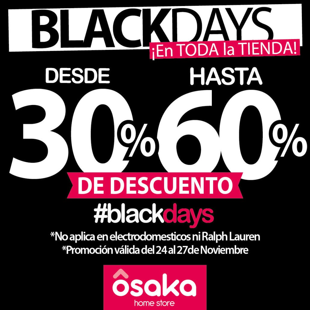 Black Friday en Osaka Home Store
