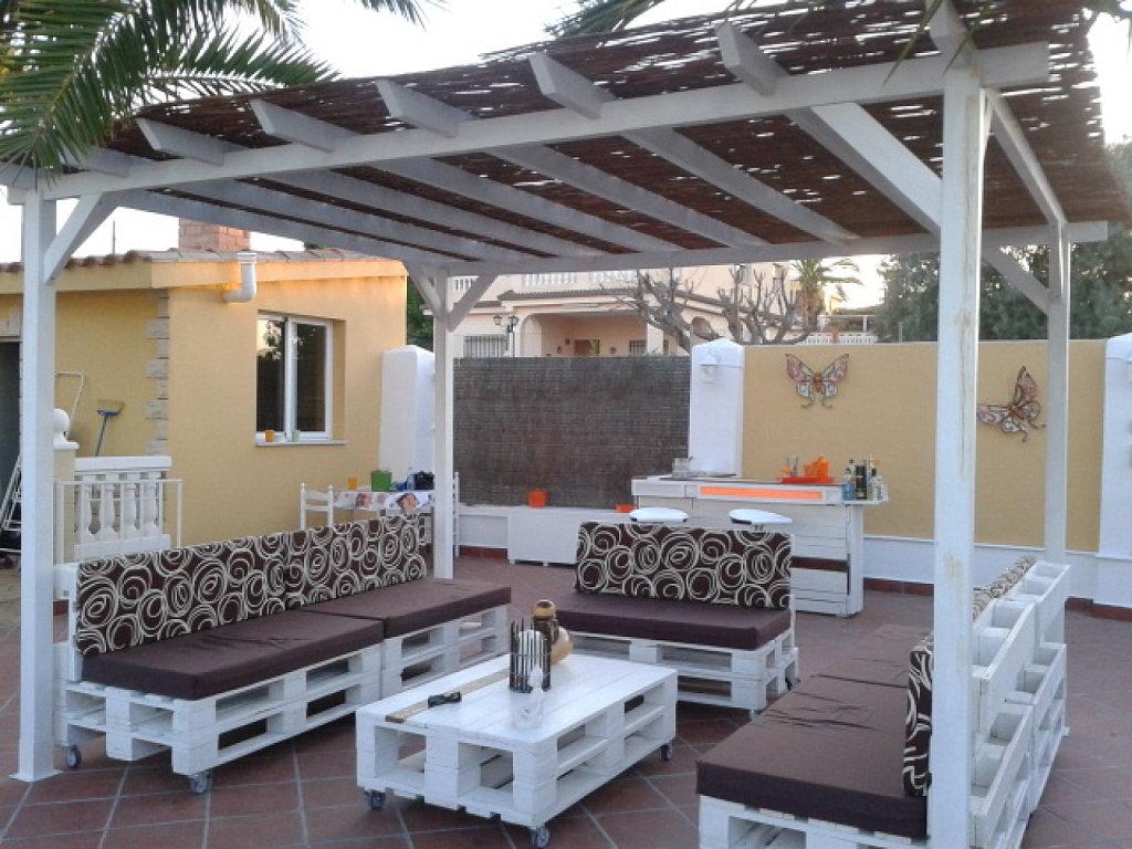 12 ideas de muebles con paletas de madera interiores - Casas con palets de madera ...